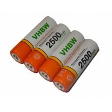 2500 mAh AA R6 tölthető akkumulátor 4x