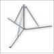 Antennatartó állvány lapos tetőre 3 lábú