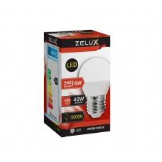 ZELUX G45 6W E27 LED lámpa 3000K
