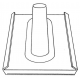 Triax DAB 52-3 A graph  OSZLOPÁTVEZ  UNIVERZÁLIS MAX 60 mm antracit